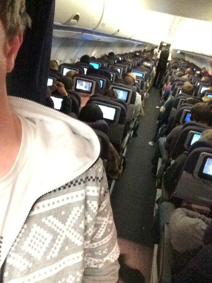 Marius OnePiece on United Airline's flight